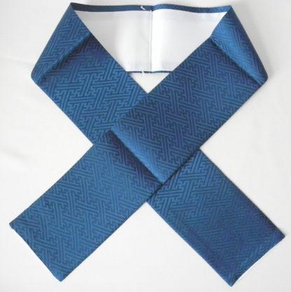 blue silk sayagata kasane eri