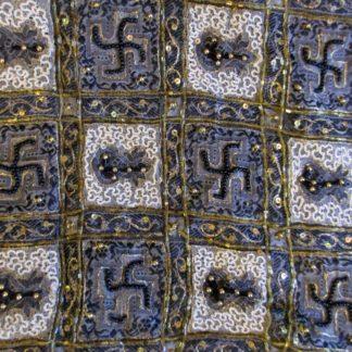 vintage pallu swastika and kalash