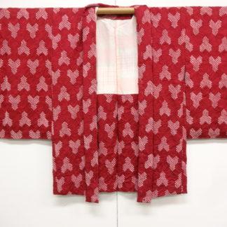 Antique shibori bishamon kikko sayagata haori