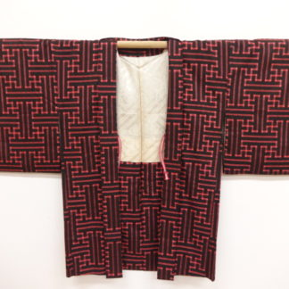 red black Taisho sayagata haori