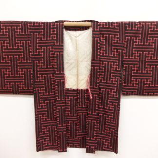 red black Taisho sayagata haori