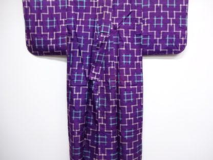 Antique meisen woven igeta kimono