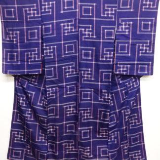 Purple meisen woven swastika kimono
