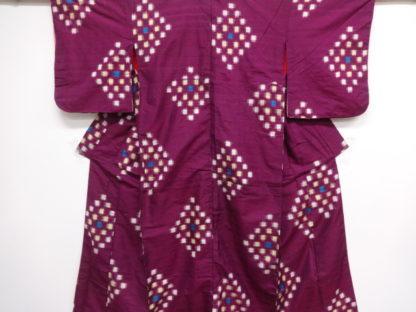 Antique meisen woven diamond kimono