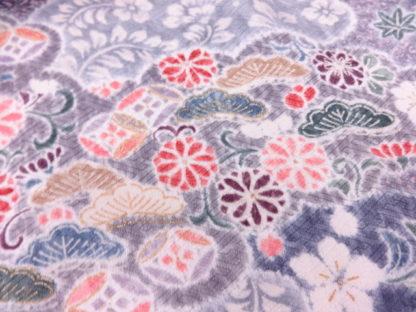 komon shibori sayagata silk